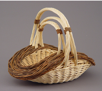 Picture of item 969-515 a Basket.  2-Tone White and Willow.