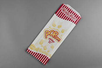 "Picture of item 208-202 a Popcorn Bag.  King Size.  4-3/4"" x 1-1/4"" x 12""."