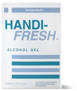 Picture of item 889-402 a Handi-Fresh™ Alcohol Gel No Rinse Sanitizer.  800 mL Refill.