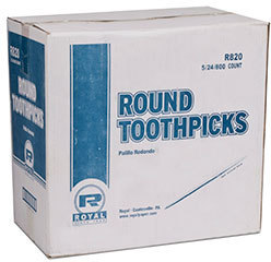 Picture of item 991-511 a Wood Toothpick.  Unwrapped.  800 Picks/Box.